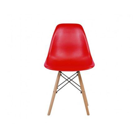 4 db modern szék konyha, nappali, étkező vagy kültéri használathoz-piros
