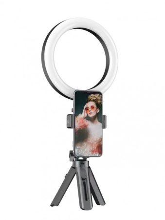 Selfi LED lámpa ajándék tripod állvánnyal és távírányítóval