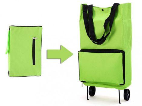 Összecsukható, kerekes bevásárló táska