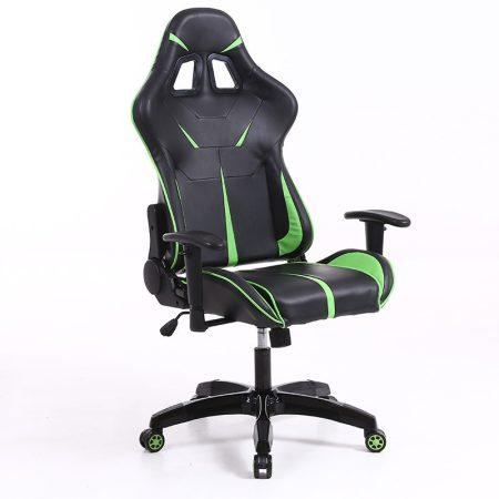 Sintact Gamer szék Zöld-Fekete Lábtartó nélkül -Megérkezett!legújabb kialakítás,még kényelmesebb felület!