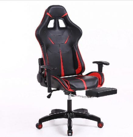 Sintact Gamer Chair with Red-Black Footrest - Latest design, even more comfortable surface!