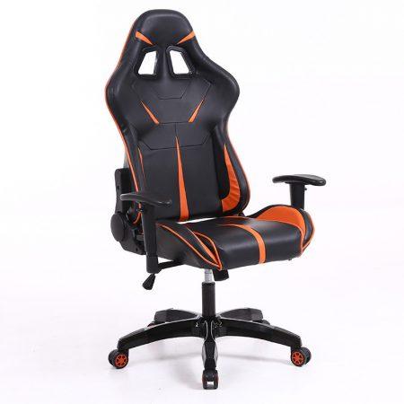 Sintact Gamer szék Narancs-Fekete lábtartónélkül -Megérkezett!legújabb kialakítás,még kényelmesebb felület!