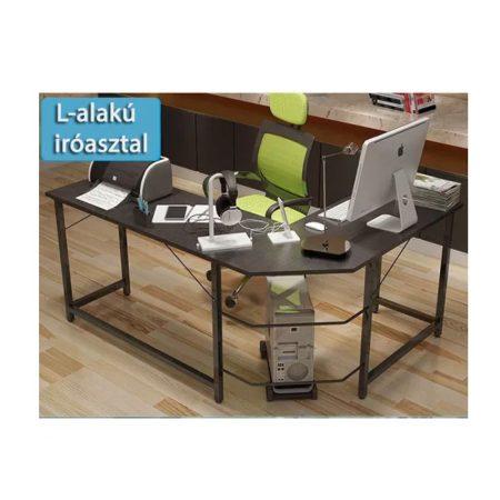 Számítógépes sarok asztal - fekete