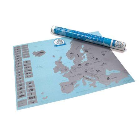 Kaparós Eu térkép - Ajándékozz ilyen kaparós térképet és inspiráld szeretted Európa felfedezésére!