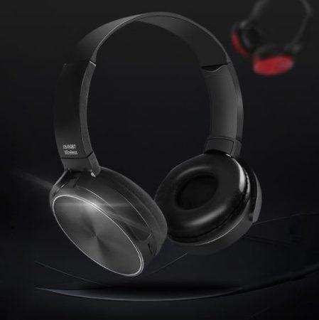 Crispy 450TB Fekete Bluetooth headset