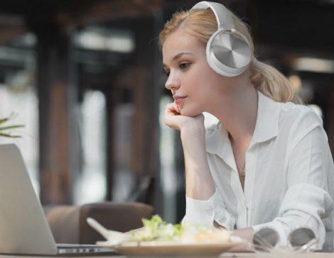 Crispy 450TB Fehér Bluetooth headset