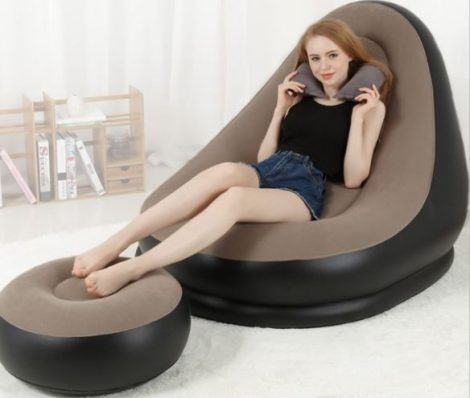Felfújhatós fotel lábtartóval
