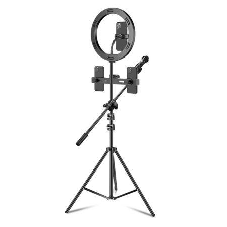 Selfi állvány mikrofontartóval