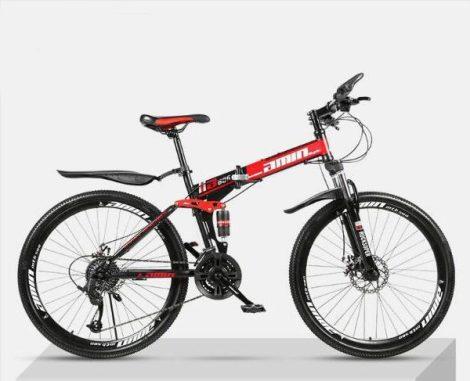 AMIN 686 hegyi kerékpár piros-fekete hagyományos küllős kivitel
